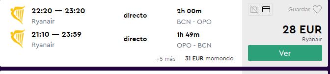 Vuelos baratos a Oporto