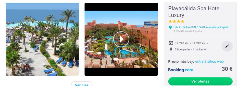 Tarifa error hoteles de verano