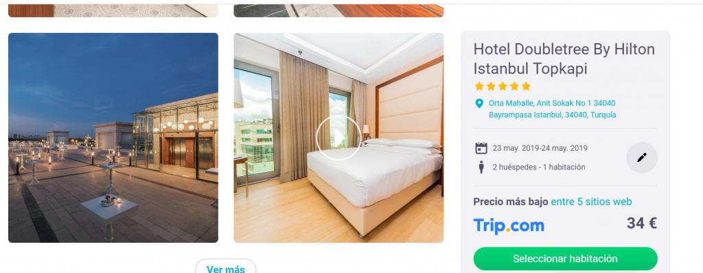 Error de precio: Hilton 5* en Estambul
