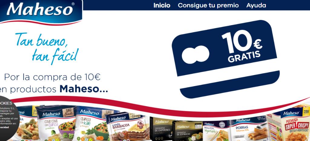 10 euros Maheso gratis